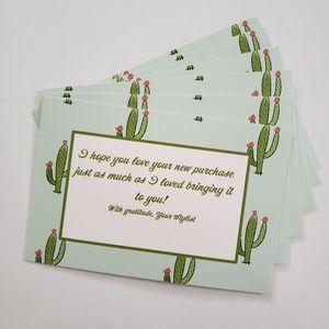 25 4x6 Card stock cactus Thank you cards